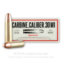 Cheap 30 Carbine Ammo For Sale - 110 Grain FMJ Ammunition in Stock by Hornady - 50 Rounds