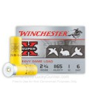 "20 Gauge Ammo - Winchester Super-X Heavy Game Load 2-3/4"" #6 Shot - 250 Rounds"