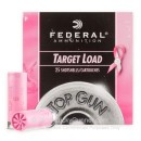 "12 Gauge Ammo - 2-3/4"" Lead Shot Pink Hull Target shells - 1-1/8 oz - #8 - Federal Top Gun - 250 Rounds"