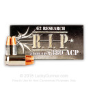 .380 ACP Ammo - G2 Research RIP 62gr HP - 20 Rounds