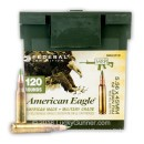 Bulk 5.56x45 XM855 LPC120 Ammo For Sale - 62 gr FMJ Federal American Eagle Ammunition - 120 Rounds