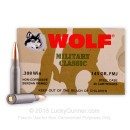 308 Winchester 145 grain full metal jacket Wolf WPA Ammo For Sale