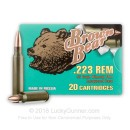 Bulk Brown Bear 223 Rem Ammo For Sale - 55 grain FMJ Lacquer Coated Ammunition In Stock - 500 Rounds