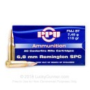 Cheap 6.8 SPC Ammo For Sale - 115 grain FMJ Boat Tail Ammunition in Stock by Prvi Partizan - 20 Rounds