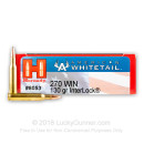 Cheap 270 Win Ammo In Stock  - 130 gr Hornady American Whitetail SP Interlock Ammunition For Sale Online - 20 Rounds