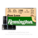"Bulk 12 ga - 2-3/4"" 1 oz #7.5 Game Load - Remington  - 250 Rounds"