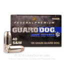 Cheap 40 S&W Federal Guard Dog Ammo - 135 Grain Expanding Full Metal Jacket -  Federal Ammunition - 20 Rounds