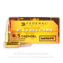 Premium 6.5 Grendel Ammo For Sale - 120 Grain SP Ammunition by Federal Fusion - 20 Rounds