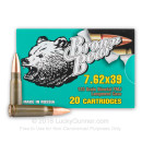 7.62x39 Ammo For Sale - 123 gr FMJ Ammunition by Brown Bear In Stock - 500 Rounds