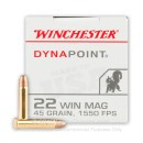 Cheap 22 WMR Ammo For Sale - 45 gr CPHP - Winchester Dynapoint - 50 Rounds