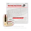 Cheap 40 S&W Ammo For Sale - 165 gr FMJ FN - Winchester USA 40 cal Ammunition In Stock - 200 Rounds