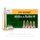 204 Ruger Premium Rifle Ammo For Sale - 32 gr PTS Ballistic Tip - Sellier & Bellot Ammo Online - 20 Rounds