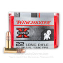 Cheap 22 LR Ammo For Sale - 37 gr Copper Plated Hollow Point Ammunition - Winchester Super-X - 100 Rounds