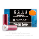"Cheap 12 Gauge Ammo - 2-3/4"" Lead Shot Target shells - 1 1/8 oz - #8 shot - Federal Top Gun - 25 Rounds"