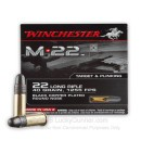 Bulk 22 LR Ammo For Sale - 40 gr Copper Plated Round Nose - Winchester M-22 - 1000 Rounds