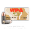Bulk 9mm Spam Can Ammo For Sale - 115 gr FMJ - Wolf Military Classic Ammunition In Stock - 800 Rounds