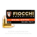 Cheap 9x18 Ultra Ammo For Sale - 100 gr FMJ Fiocchi Ammunition For Sale - 50 Rounds