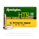 Bulk 44 Mag Ammo For Sale - 240 Grain SJHP Ammunition in Stock by Remington HTP - 500 Rounds