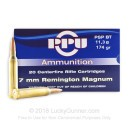 Cheap 7mm Remington Ammo For Sale - 174 gr PSP Boat Tail Ammunition In Stock by Prvi Partizan - 20 Rounds