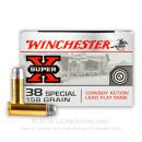 Cheap 38 Special Ammo For Sale - 158 grain LFN Ammunition in Stock by Winchester Super-X - 50 Rounds