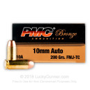 Bulk 10mm Auto Ammo For Sale - 200 Grain FMJ Ammunition in Stock by PMC - 1000 Rounds