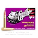 Cheap 30-06 Brass Coated Steel Cased Ammo For Sale - 168 gr SP - Golden Bear Ammo Online - 20 Rounds