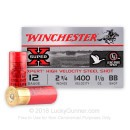 "Cheap 12 Gauge Ammo - 2-3/4"" Steel Shot Game Shot Shells - 1-1/8 oz - BB - Winchester Super-X - 25 Rounds"