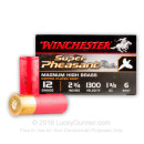 """Premium 12 Gauge Ammo For Sale - 2-3/4"""" 1-3/8oz. #6 Shot Ammunition in Stock by Winchester Super Pheasant - 25 Rounds"""