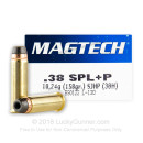38 Special Ammo For Sale - 158 gr +P SJHP Magtech Ammunition In Stock