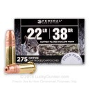 Cheap 22 LR Ammo For Sale - 38 Grain CPHP Ammunition in Stock by Federal Field Pack - 275 Rounds