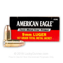 9mm - 147 grain TMJ - Toxic-Metal Free Primer- Federal American Eagle - 50 Rounds