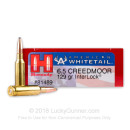Bulk 6.5 Creedmoor Ammo For Sale - 129 Grain SP Ammunition in Stock by Hornady American Whitetail - 200 Rounds