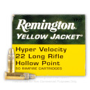 22 LR Ammo For Sale - 33 gr Truncated Cone Hollow Point Ammunition - Remington Yellow Jacket - 50 Rounds