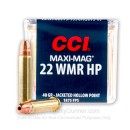 22 WMR Ammo For Sale - 40 gr CPHP - CCI Maxi Mag Ammunition In Stock - 50 Rounds