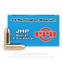 44 Magnum Ammo For Sale - 240 Grain JHP Prvi Partizan Ammunition In Stock