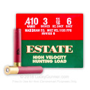 "Bulk 410 Gauge Ammo For Sale - 3"" Max Dram 11/16 oz. #6 Shot Ammunition in Stock by Estate HV Hunting - 250 Rounds"