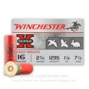 "Cheap 16 Gauge Ammo For Sale - 2-3/4"" 1-1/8 oz. #7.5 Shot Ammunition in Stock by Winchester Super-X - 25 Rounds"