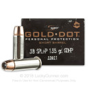 Premium .38 Special Ammo For Sale - 135 Grain JHP Ammunition in Stock by Speer Gold Dot - 20 Rounds