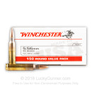 Cheap 5.56x45mm Ammo For Sale - 55 Grain FMJ Ammunition in Stock by Winchester - 150 Rounds