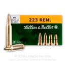 223 Rem Ammo In Stock - 55 gr SP Sellier & Bellot Ammunition For Sale  - 20 Rounds