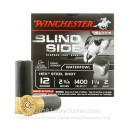 "Premium 12 Gauge Waterfowl Ammo - Winchester Blindside 2-3/4""  1-1/4 oz #2 Hex Steel Shot - 25 Rounds"
