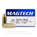 Cheap .44 Magnum Ammo For Sale – 240 Grain Full Metal Jacket Flat Nose Ammunition in Stock by Magtech - 1000 Rounds