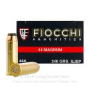 44 Magnum Ammo For Sale - 240 gr JSP Ammunition In Stock by Fiocchi