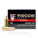 Bulk 38 Special Ammo For Sale - 158 Grain FMJ Fiocchi Ammunition In Stock - 1000 Rounds
