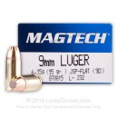 9mm Luger Ammo For Sale - 95 gr JSP - Magtech Ammunition In Stock