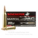 Premium Match Grade 223 Rem Ammo For Sale - 69 gr HPBT Ammunition In Stock by Winchester - 20 Rounds