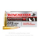 Cheap 223 Rem Ammo For Sale - 40 Grain PT Ammunition in Stock by Winchester Varmint-X - 20 Rounds