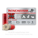 "Premium 12 Gauge Ammo For Sale - 2-3/4"" 1-1/4 oz. #5 Shot Ammunition in Stock by Winchester Super-X Heavy Field Load - 25 Rounds"