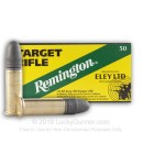 Cheap 22 LR Target Ammo For Sale - 40 gr Lead Round Nose Ammunition - Remington Eley Target- 50 Rounds