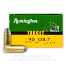 Bulk 45 LC Ammo For Sale - 250 gr LRN - Remington Target Ammunition In Stock - 500 Rounds